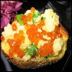 картошка с икрой