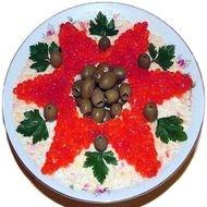 салат царский с красной икрой